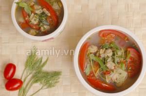 Cách nấu canh chua ngao 15