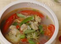 Nấu canh chua ngao thơm ngon đưa cơm ngày lạnh