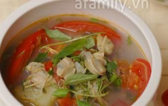 Nấu ăn món ngon mỗi ngày với ngổ, Cách nấu canh chua ngao