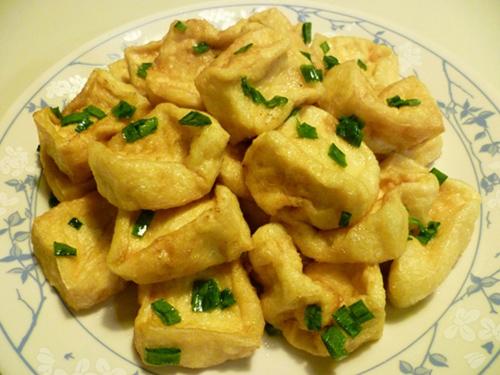 Món ăn miền Bắc Đậu Phụ Rán Tẩm Hành