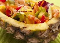 Salad Tôm Dứa (Salad tom dua) chua dịu chống ngán