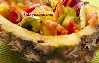 Nấu ăn món ngon mỗi ngày với Dứa, Nau an ngon, hoc nau an, cach lam mon ngon, cach lam salad tom dua ngon