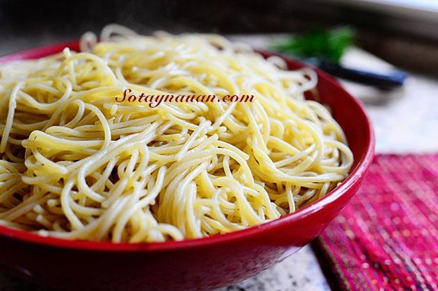 Nau an ngon, mon ngon, my y, my spaghetty, my spaghetty sot thit bo, my y sot thit bo - buoc 35