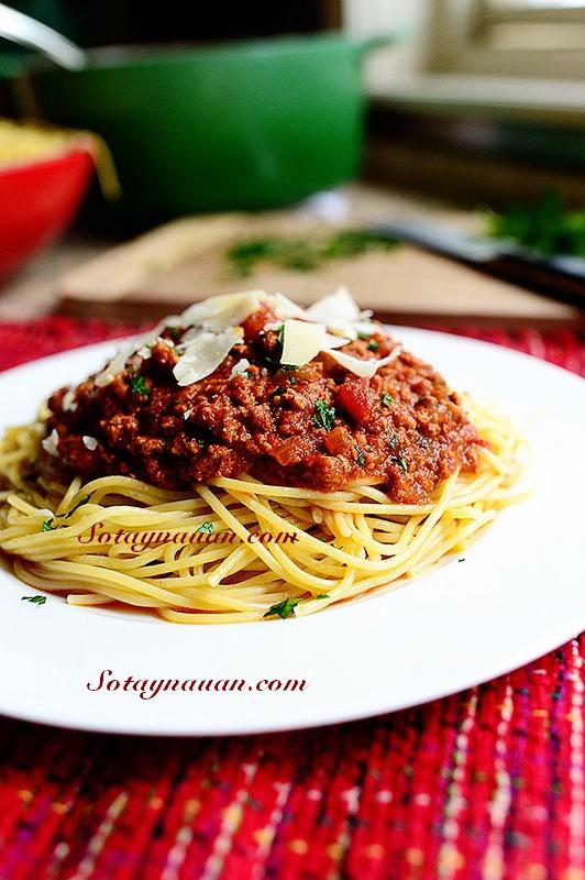Nau an ngon, mon ngon, my y, my spaghetty, my spaghetty sot thit bo, my y sot thit bo - buoc 39