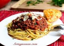 Mỳ spaghetti sốt thịt bò cực ngon