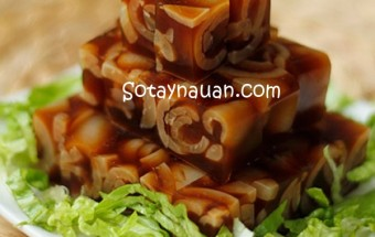 Nấu ăn món ngon mỗi ngày với Bì lợn, Nau an ngon, mon ngon bi lon nau dong - ket qua, so tay nau an