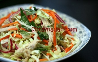 Những món ăn vặt, Nom ga bap cai - Sotaynauan.com final (2)