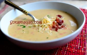 Nấu ăn món ngon mỗi ngày với Khoai tây, Cách nau sup khoai tay ngon, cach nau soup khoai tay ngon, mon ngon, nau an ngon, So Tay Nau An