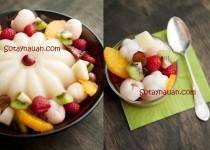 Thạch rau câu hoa quả mát lịm cho ngày nóng