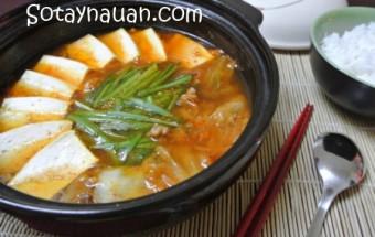 hướng dẫn cách nấu ăn ngon hàng ngày, canh kim chi, canh kim chi dau phu, cach nau canh kim chi ngon, cach nau canh kim chi dau phu ngon, mon ngon, nau an ngon, So Tay Nau An