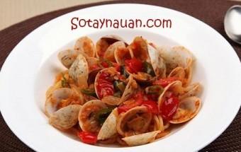 Nấu ăn món ngon mỗi ngày với Dầu olive, cach lam spaghetti ngao ngon, mi spaghetti ngao ngon, my spaghetti ngao, So Tay Nau An Ngon, mon an ngon