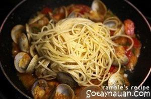 cach lam spaghetti ngao ngon, mi spaghetti ngao ngon, my spaghetti ngao, So Tay Nau An Ngon, mon an ngon