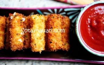 Đồ ăn vặt, Cách làm phô mai que, Cheese stick 24