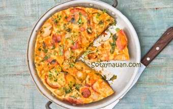 Nấu ăn món ngon mỗi ngày với Thịt hun khói hoặc salami, Cach lam truong ran khoai tay ngon, cach nau an ngon, day nau an gia dinh, so tay nau an, mon ngon