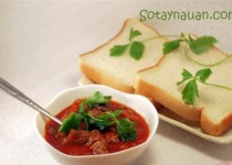 Cách làm bò sốt vang, món ngon cuối tuần cho cả nhà