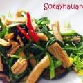 cach lam trung cuon tom hap, Cach lam cai ngong xao nam - Sotaynauan.com 5