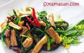 Nấu ăn món ngon mỗi ngày với Váng đậu, Cach lam cai ngong xao nam - Sotaynauan.com 5