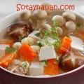canh sườn chua ngọt, Nau canh ngon, canh nam hat sen chay ngon, Huong dan nau an, So Tay Nau An,