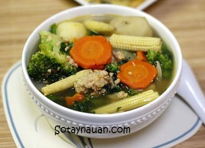 Cách nấu canh rau củ thit nạc - Món ngon ngày hè 5