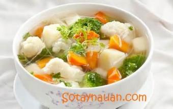 Nấu ăn món ngon mỗi ngày với ngô bao tử, Cách nấu canh rau củ thit nạc - Món ngon ngày hè 4