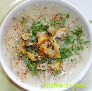cách náu cháo trai , hướng dẫn nấu cháo trai, món ngon, Sotaynauan.com, day nau ăn