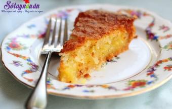 Nấu ăn món ngon mỗi ngày với Giấm trắng, cách làm bánh dừa nướng (coconut pie)
