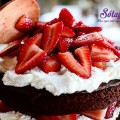 làm bánh socola, bánh sinh nhật chocolate dâu tây 28