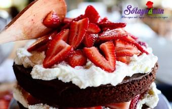 socola tươi, bánh sinh nhật chocolate dâu tây 28