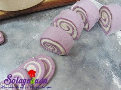 Cách làm bánh bao chay khoai lang tím 1