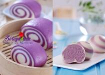 Cách làm bánh bao khoai lang tím đẹp mắt