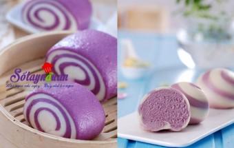 Những món ăn chay, Cách làm bánh bao chay khoai lang tím