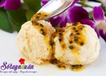 Cách làm kem chanh leo thơm mát