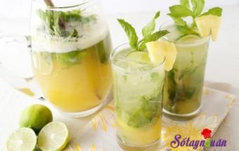 Pha chế đồ uống, Cách làm sinh tố dứa mát lạnh thơm ngon