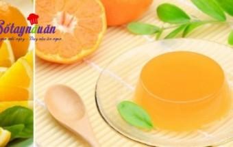 Nấu ăn món ngon mỗi ngày với Bột gelatin, Cách làm thạch cam