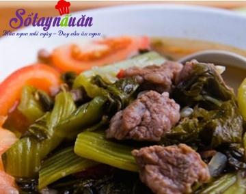 Cách nấu canh dưa bò, cách nấu canh dưa chua thịt bò
