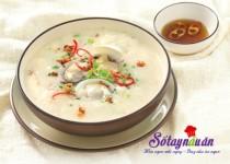 Cháo ngao nước cốt dừa thơm ngon