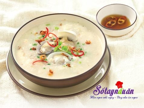 Cháo ngao nước cốt dừa thơm ngon ngọt mát