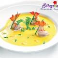 canh xương đậu xanh, Súp tôm bí đỏ cho bé, súp bí đỏ, soup bí đỏ, soup tôm
