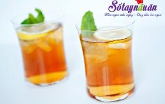Làm đồ uống, Tra chanh bac ha (6)