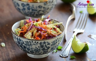 Nấu ăn món ngon mỗi ngày với Bắp cải tím, Cách làm salad rau trộn
