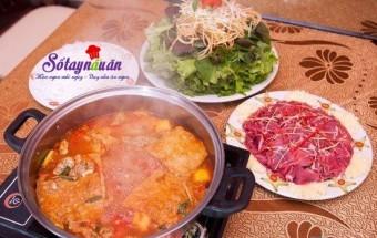 Nấu ăn món ngon mỗi ngày với Cua đồng, cách nấu lẩu riêu cua bắp bò sườn sụn
