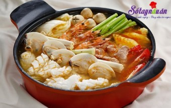 Nấu ăn món ngon mỗi ngày với Tôm sú, Cách nấu lẩu thái