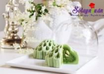 Cách làm bánh dẻo trung thu trà xanh nhân đậu xanh hạt sen