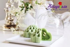 Nấu ăn món ngon mỗi ngày với Đậu xanh, Cách làm bánh dẻo trung thu trà xanh