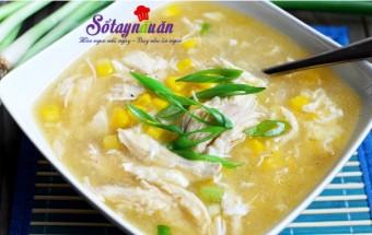 đồ ăn cho bé, Cách nấu súp gà ngô non