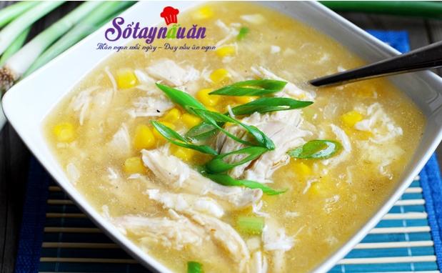 Cách nấu súp gà ngô non
