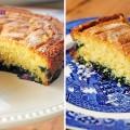 Bánh gốc cây, cách làm bánh bông lan chanh việt quất