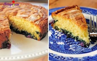 Món ăn sáng, cách làm bánh bông lan chanh việt quất