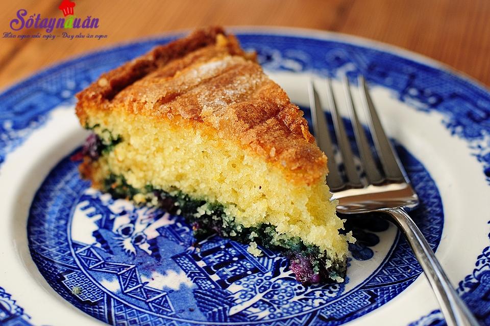 cách làm bánh bông lan chanh việt quất
