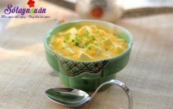 món ngon dễ làm, cách làm đậu phụ om trứng muối